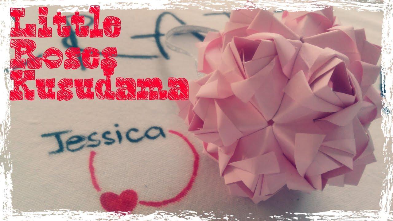 Origami easy origami rose ball little roses kusudama youtube jeuxipadfo Choice Image