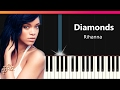 Rihanna Diamonds EASY Piano Tutorial Chords How To Play Cover mp3