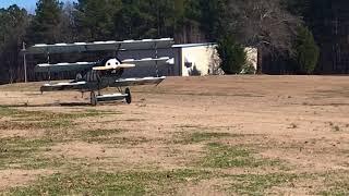 Fokker landing at Brook Bridge Aerodrome.