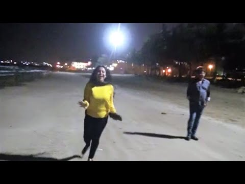 Walking across Muscat 11: Safari Nightclub, Grand Hyatt, night time beach