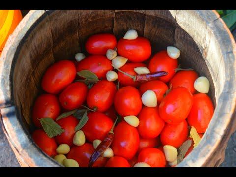 Помидоры зимой больше НЕ ПОКУПАЮ! Заготовка помидоров на Зиму в бочке. И МЯСО И РЫБА