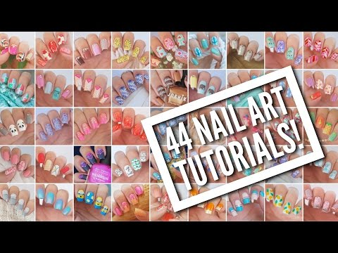 44 Nail Art Tutorials! | Nail Art Design Compilation