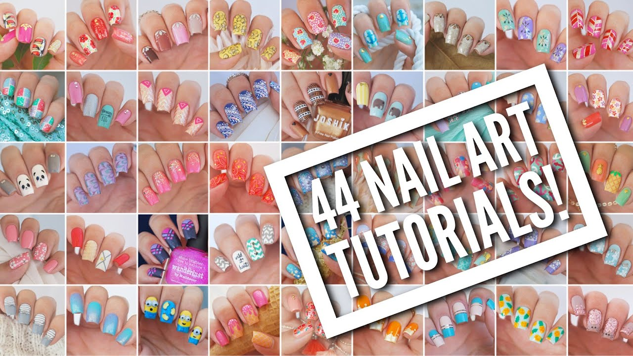 44 nail art tutorials nail art design compilation youtube prinsesfo Gallery