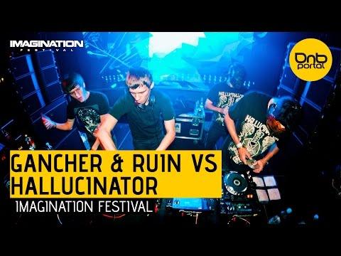Hallucinator VS. Gancher & Ruin - Imagination Festival 2014 [DnBPortal.com]