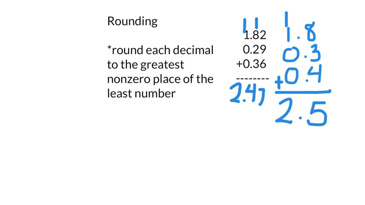 Lesson 1-6 Estimate Decimal Sums and Differences