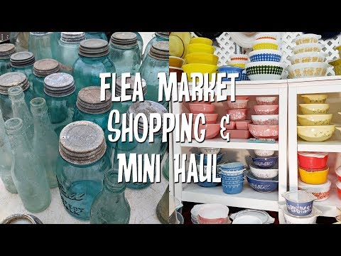 Thrifting at the Flea Market for Home Decor & Antiques+Mini Haul