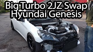 Big Turbo 2JZ Swapped Hyundai Genesis Review. Evo Action At The End