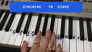 Mehbooba Mehbooba|Sholay|Amitabh Bachchan|Bollywood hit|Piano Tutorial|easy notes