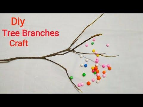 Diy Tree Branches Craft Idea / waste material craft idea / diy room decor idea / Preeti Chauhan