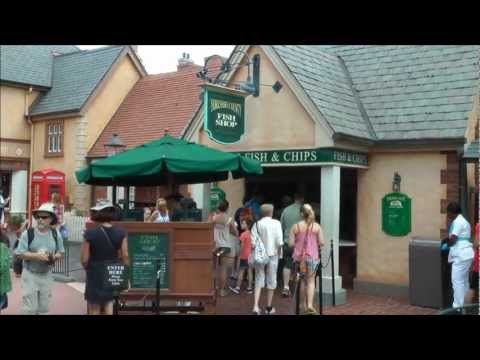 Yorkshire County Fish Shop In Epcot (HD 1080p)