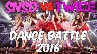 SNSD vs TWICE Dance Battle 2016 / Girls Generation vs TWICE batalla de baile 2016 - Stafaband