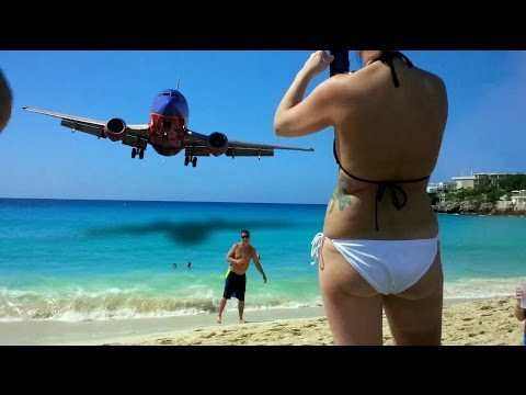 Maho Beach Airplanes Saint Martin Saint Kitts & Panoramas