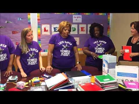 School Supply Donation-Loch Raven Technical Academy 2017
