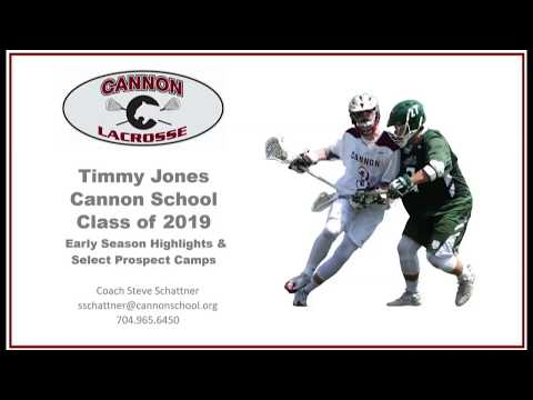 Timmy Jones, Class of 2019, Cannon School