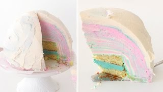 CAKE WITH 100 LAYERS OF BUTTERCREAM - FAIL