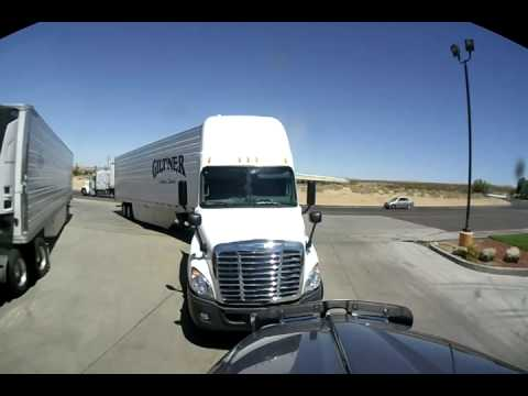 Giltner Truck goes wild at a truckstop