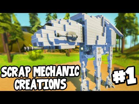 Scrap Mechanic CREATIONS! - WORKING AT-AT WALKER! [#1] W/AshDubh   Gameplay  