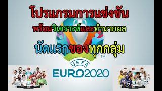 โปรแกรมการแข่งขัน ยูโร 2021  พร้อมวิเคราะห์และทำนายผล (นัดแรกของทุกกลุ่ม)