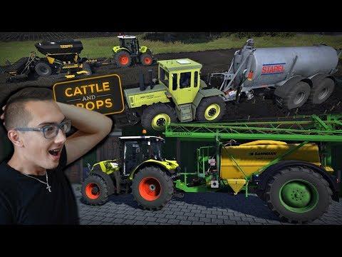 Cattle and Crops #3 ☆ Z tego coś będzie !! Gnojowica, Siew i Opryski ㋡ MafiaSolec