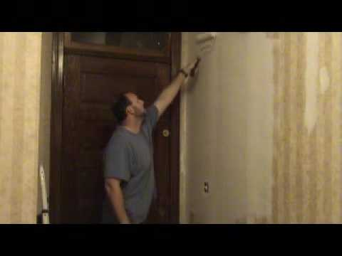 drywalldoc.com drywall mudding over wallpaper video part 2 - YouTube