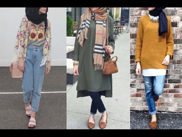 Casual Hijab Jeans Outfits For Girls Lookbook Outfit Ideas Youtube