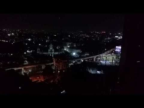 Beautiful Indian City Hyderabad Skyline View at night