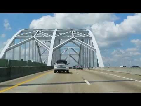 Jacksonville Driving south on Interstate 95 across the bridge located in the city of Jacksonvile