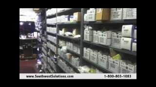 Rolling High Capacity Automotive Parts Racks Shelving Cabinets
