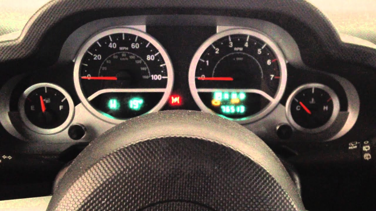 How To Reset Turn Off Change Oil Light In 2010 Jeep Wrangler 2008 2009 2010 2011 2012 Youtube
