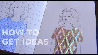 How to get inspiration for your art + holo shirt drawing