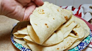 Soft Flour Tortillas Recipe | Tortillas de Harina | How to make tortillas from Scratch