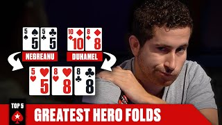 TOP 5 HERO FOLDS OF ALL TIME ♠️ Poker Top 5 ♠️ PokerStars