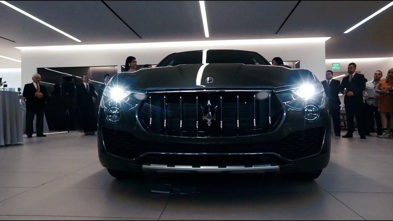 2017 Maserati Levante SUV Reveal Event - Rusnak Maserati of Pasadena - YouTube