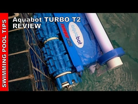 Aquabot Turbo T2 Robotic Pool Cleaner with Caddy - Review - YouTube