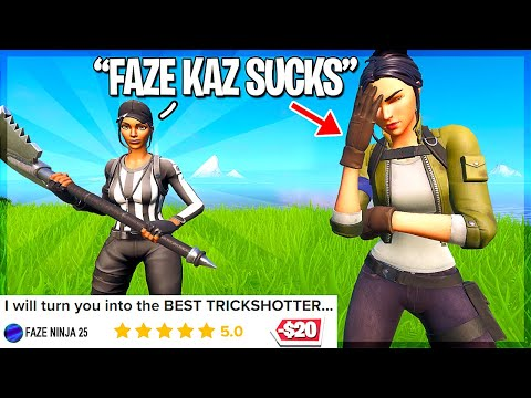 i hired the first ever fortnite trickshot coach... (gone wrong)