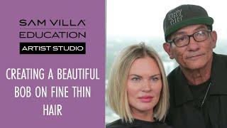 How to Cut a Bob on Fine Thin Hair Textures - In Depth Tutorial!