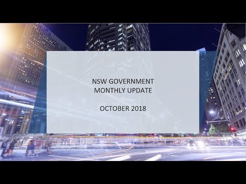 NSW Government Update | October 2018