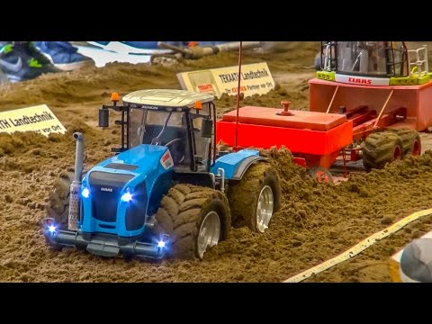 RC tractor and truck pulling! John Deere, Case, Claas & Co in  ACTION!