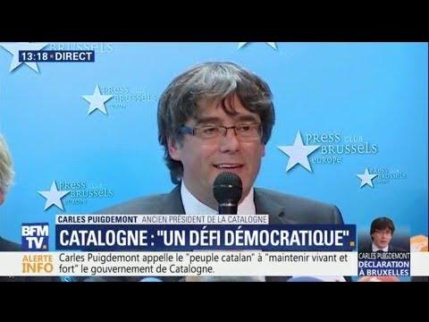 """A Bruxelles, Carles Puigdemont """"demande à l'Europe de réagir"""""""