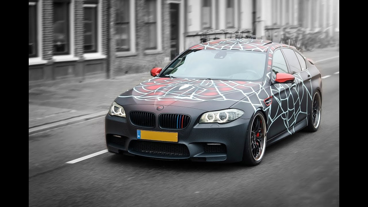 Xwrap - Full wrapped BMW M5 with SpiderMan suit design SLX Cast Wrap