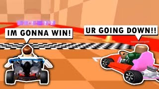 VERSING PLAYERS IN MEEP CITY RACING!! (Roblox)