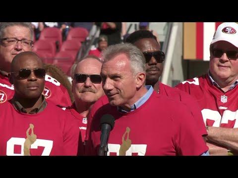 Dwight Clark Addresses Levi's Stadium Crowd