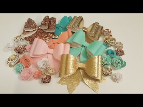 Faux leather Sizzix bows & flowers