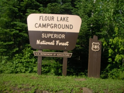 Flour Lake Campground drive through review Superior National Forest  Minnesota