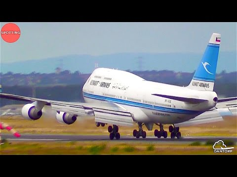 Windy Plane Spotting at Frankfurt Airport | 50 Mins of Wide-Body Action + Other Airplanes!