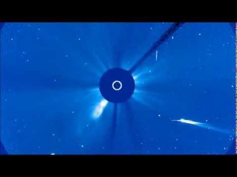 Comet ISON Becomes Visible on SOHO Corona 3 Camera