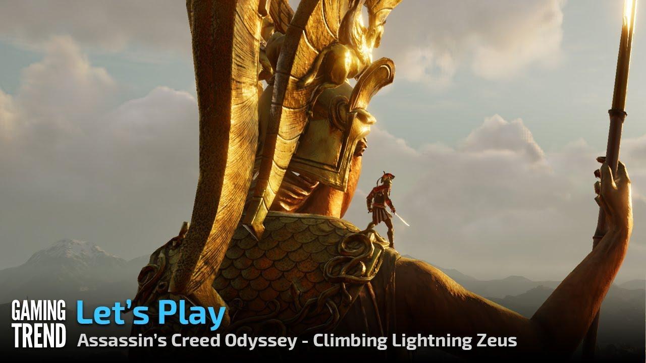 Assassin S Creed Odyssey Climbing Lightning Zeus Pc 4k