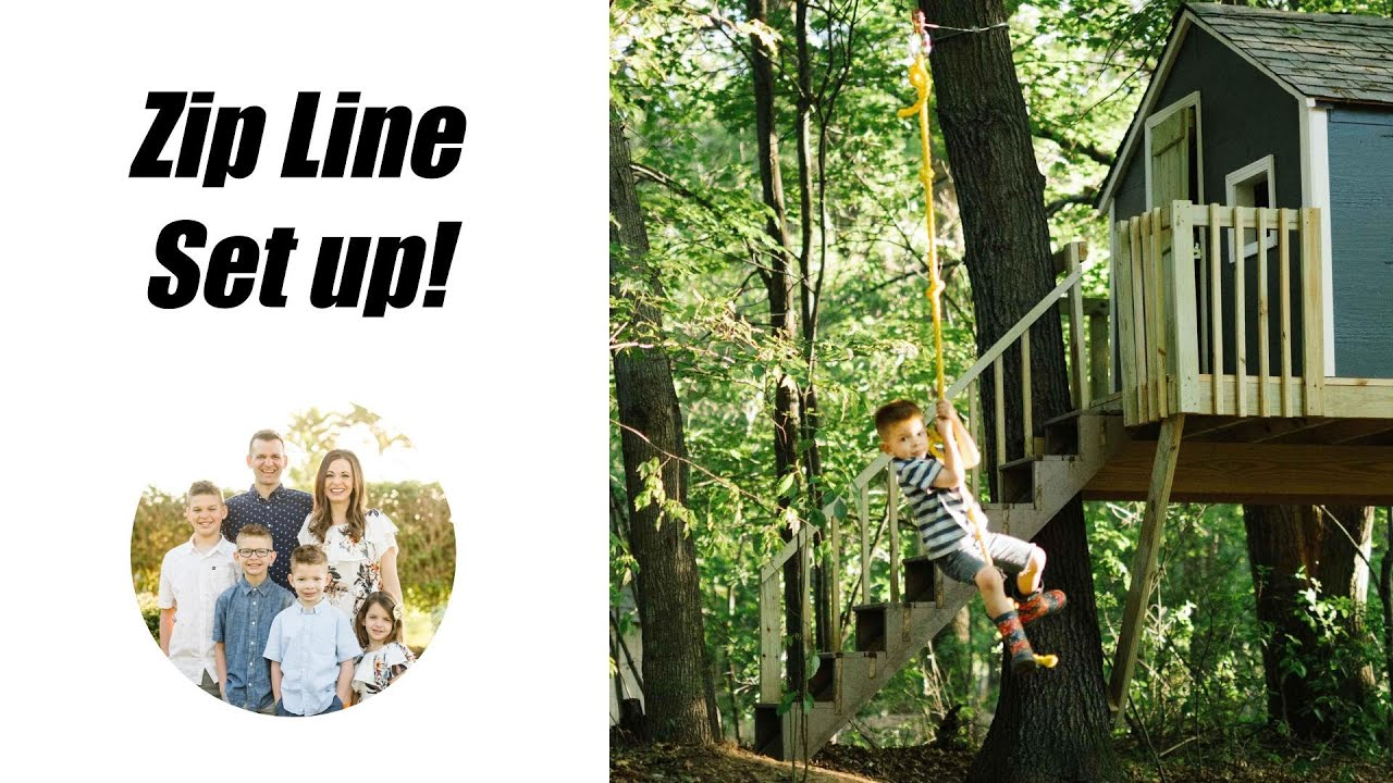 How to Make a Zip Line in Your Backyard - YouTube