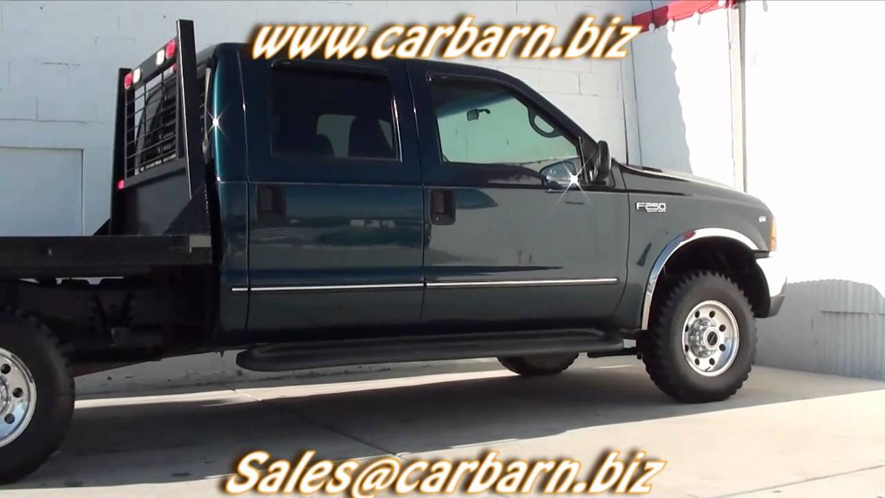 For Sale - 1999 Ford F250 Crew Cab Flatbed 4x4 at Car Barn ...