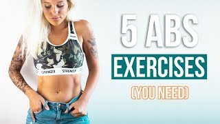 ABS WORKOUT I THE 5 ONLY EXERCISES YOU NEED